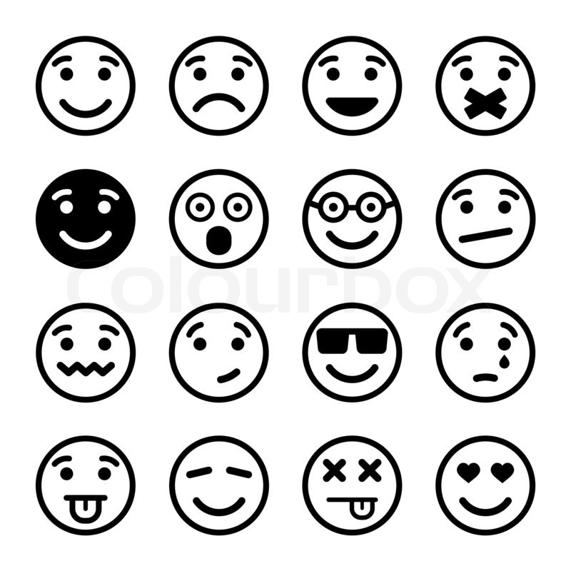 Smiley-Gesichter-ns-set | Stockfoto | Colourbox
