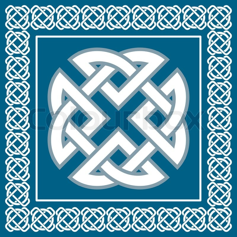 Keltische Knoten Symbol Stellt Vier Vektorgrafik Colourbox