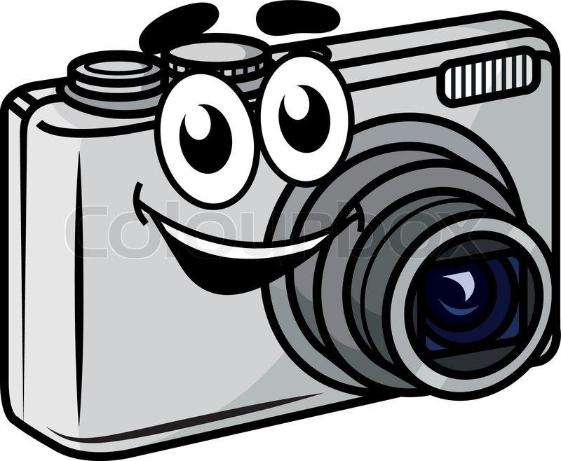 Cute Little Cartoon Compact Digital Stock Vector Colourbox