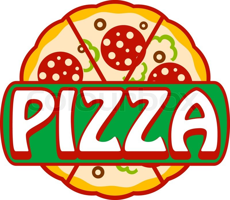 pizza banner  icon or sign with the word pizza over a pizza slice vector free pizza slice vector png