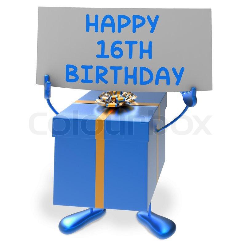 16. Geburtstag Zeigen Zeichen Und ...