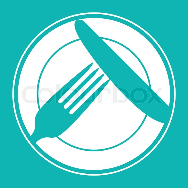 Plate Knife And Fork Restaurant Menu Design With Cutlery Symbols