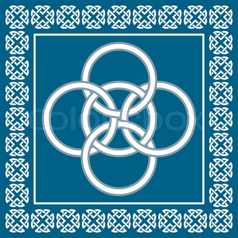 Celtic Five Fold Knot Symbolizes Integration Of Four Elementswater