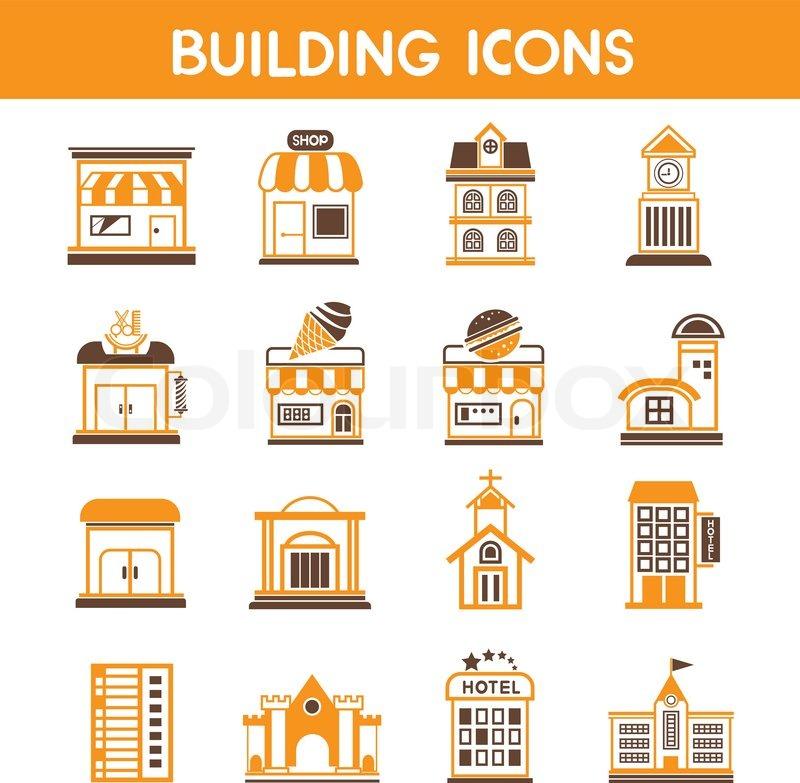 Hotel Building Icon Vector Building Icons Vector