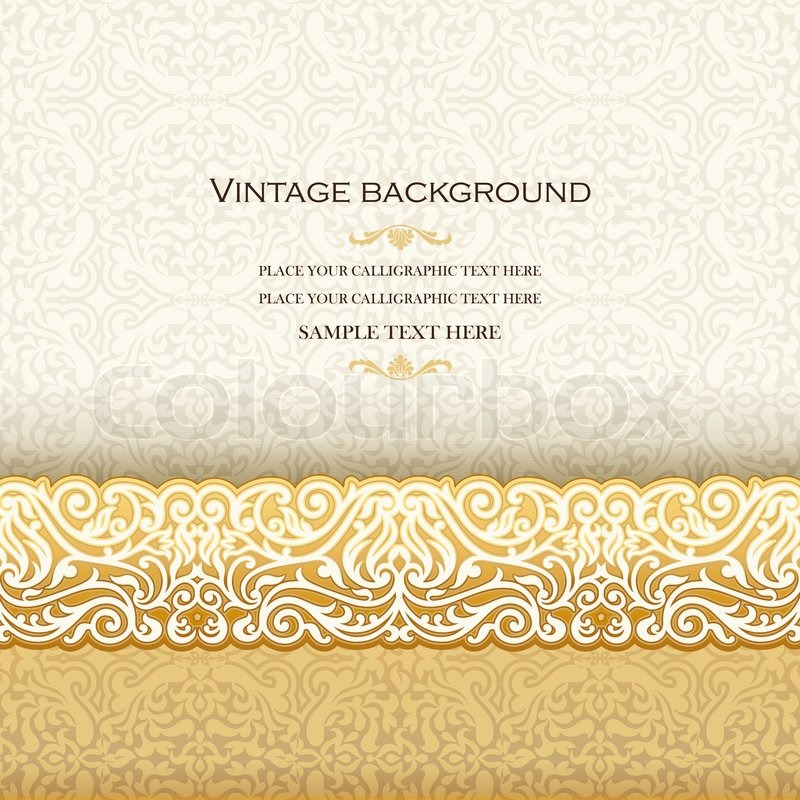 Vintage background antique invitation card royal greeting with stock vector of vintage background antique invitation card royal greeting with lace and stopboris Image collections