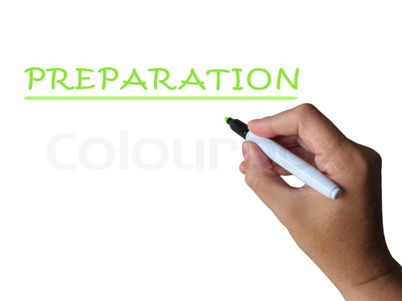 Preparation Word Meaning Readiness Stock Image Colourbox
