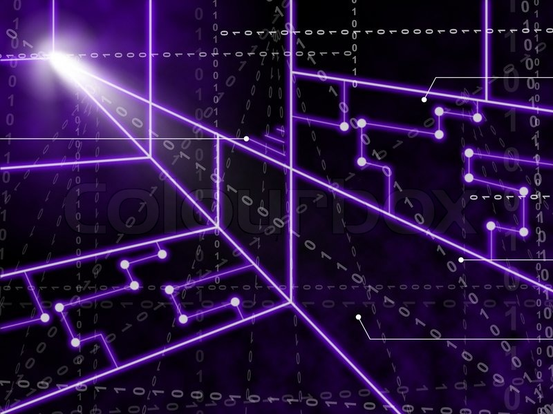 Neon Circuits Wallpaper And Background Image: Laser Circuit Background Showing Bright Energy Wallpaper
