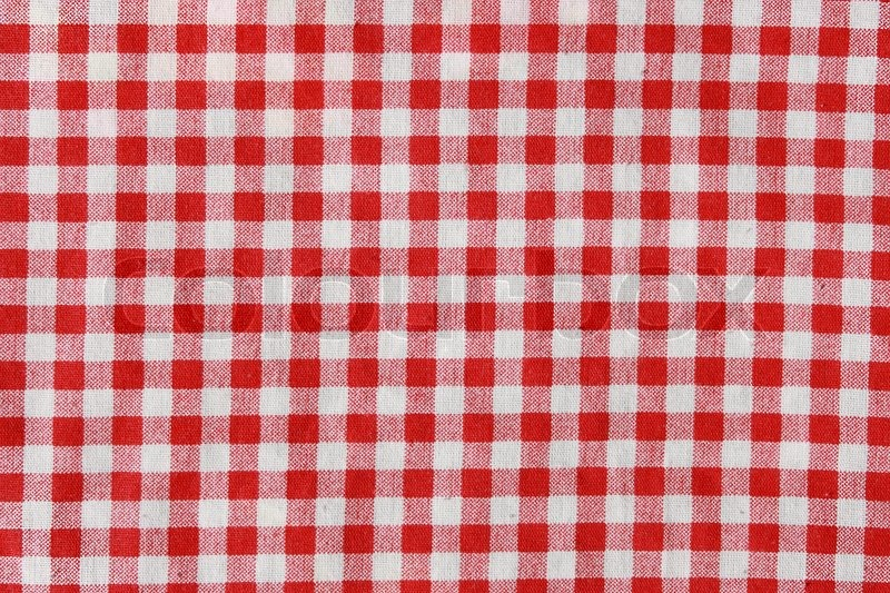 bd0ab45cd98 Stock image of  Texture of a red and white checkered picnic blanket. Red  linen