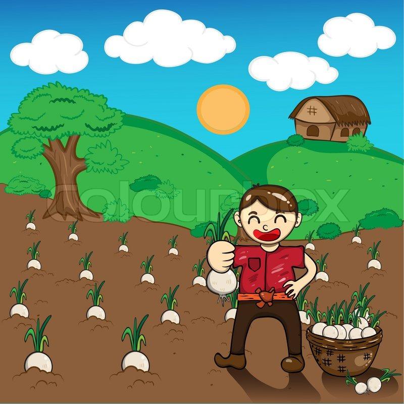 illustration of cartoon farmers stock vector colourbox