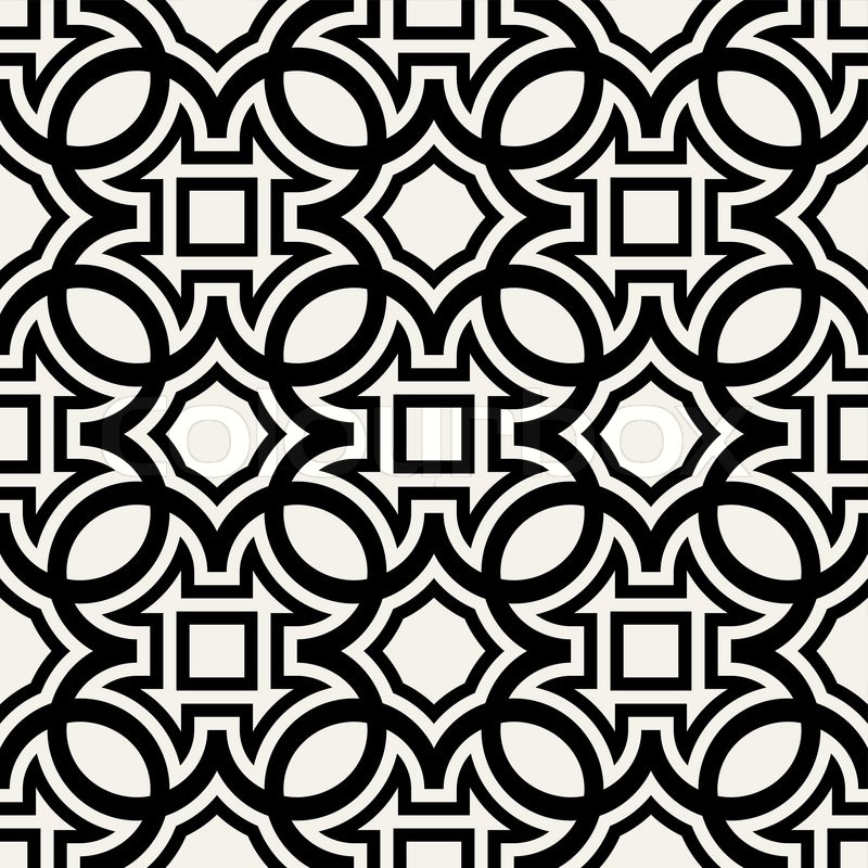 Simple Geometric Patterns Black And White