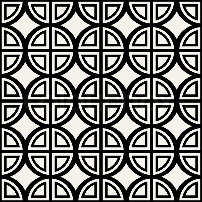 Abstract geometric background modern seamless pattern wrapping paper 60s 70s fashion style black and white trendy fabric simple ornaments template