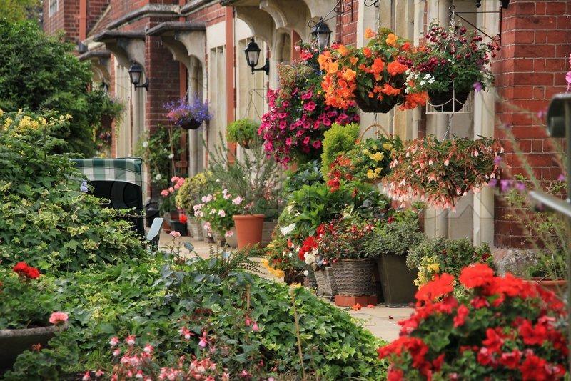 Englischen Stil Für Garten Mit Bunt ...