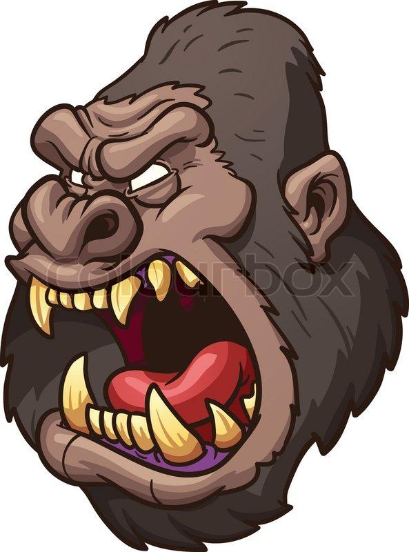 angry cartoon gorilla - photo #3