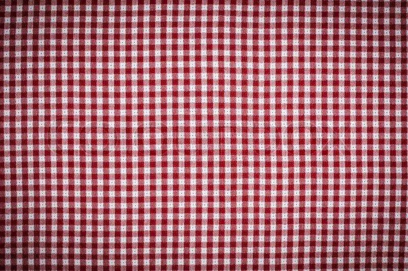 Red And White Gingham Checkered Picnic Blanket Tablecloth