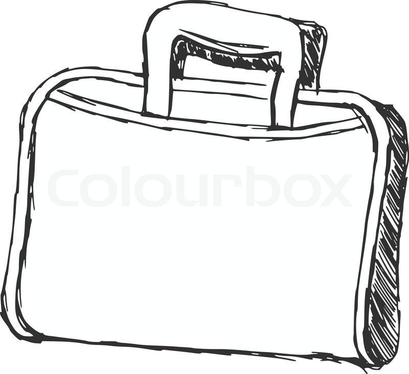 Open Briefcase Vector of Briefcase Vector