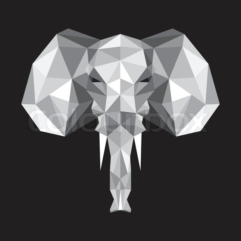 origami elefant vektorgrafik colourbox. Black Bedroom Furniture Sets. Home Design Ideas