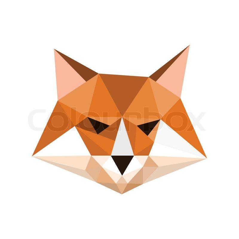 Illustration Of Origami Fox Portrait Symbol Stock Vector Colourbox