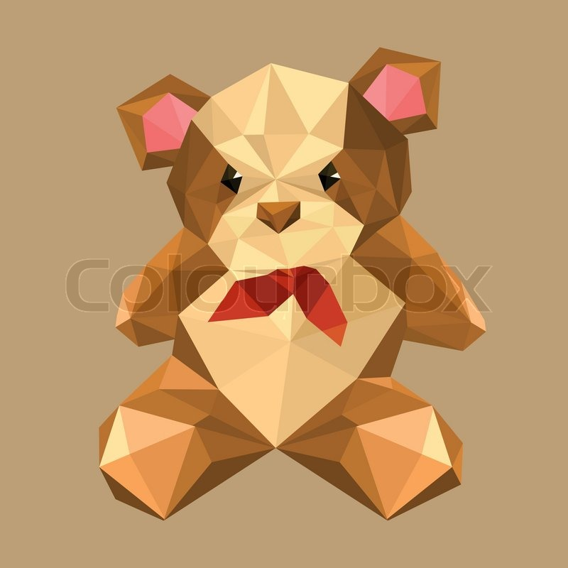 Origami Teddy Bear With Red Bow