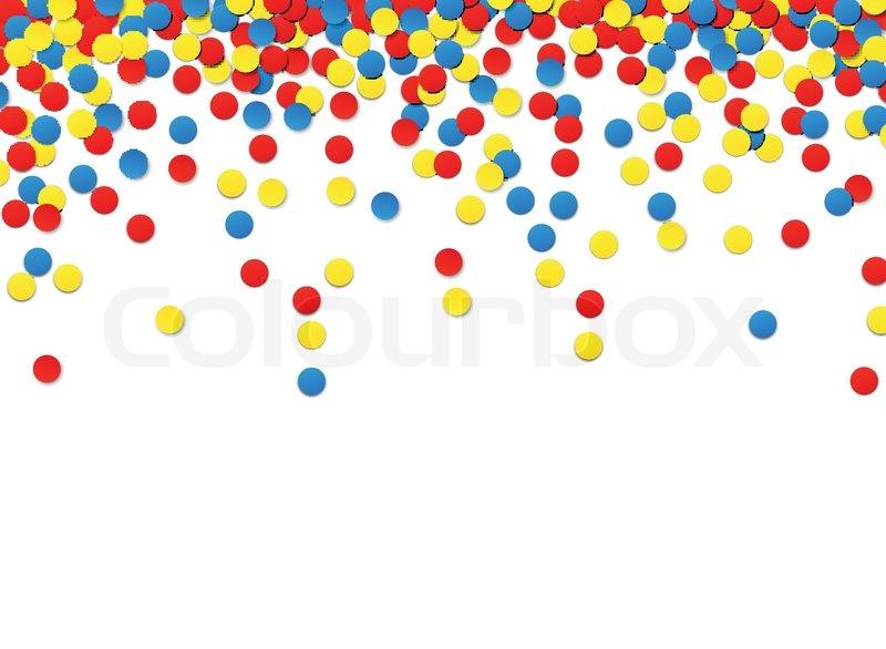 colorful celebration background with confetti vector illustration rh colourbox com confetti vectoriel confetti vector art