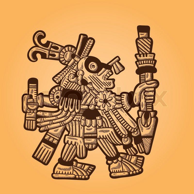 Maya Design | Person Retro Image Of The Maya Maya Stock Vector Colourbox