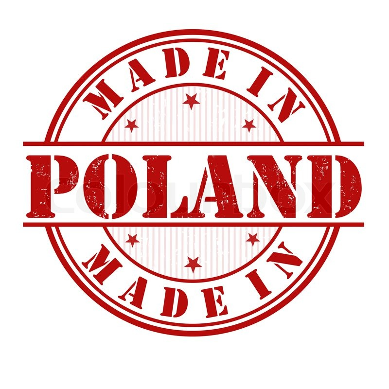 Made in Poland grunge rubber stamp on ... | Stock vector | Colourbox