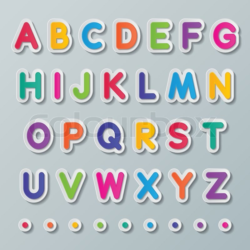 Bright Coloured Alphabet Letters