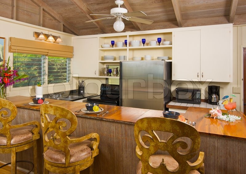 Tropische Küche Interieur | Stockfoto | Colourbox