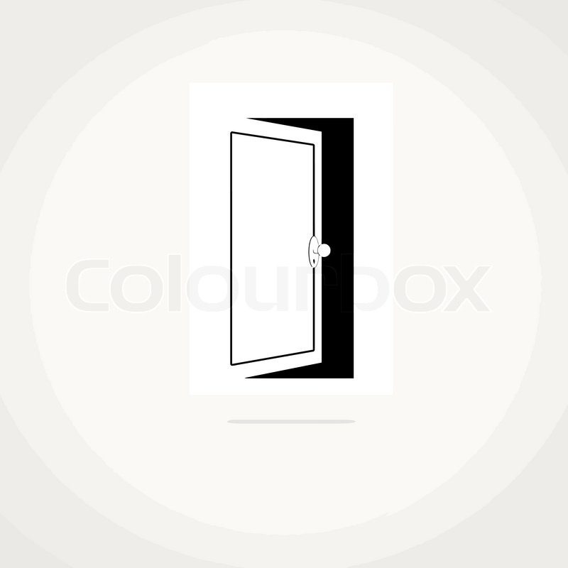 Open Door Icon Vector Open Door Icon And Space For Your Text Vector Illustration Vector