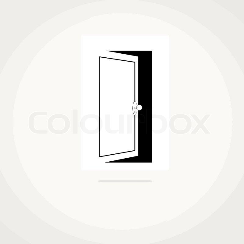Open Door Icon Vector Open Door Icon And Space For Your Text Vector Illustration Vector