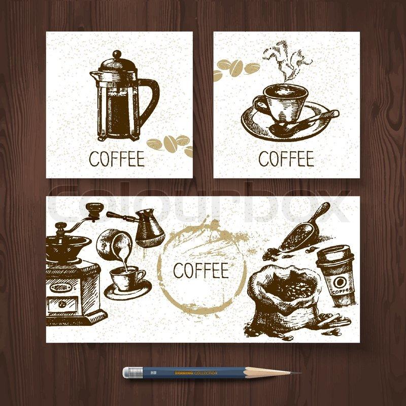 Vektor Identität Satz von Kaffee-Banner. Menü-Design-Vorlagen mit ...
