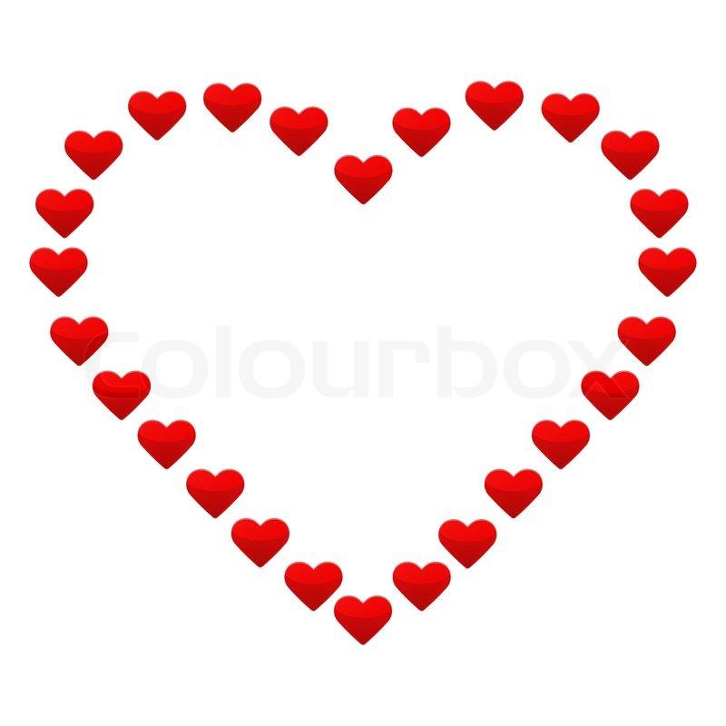 Großes Herz mit kleinen roten Herzen | Vektorgrafik | Colourbox