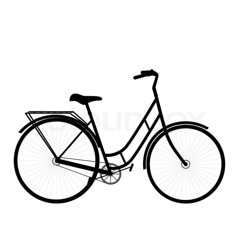 Black shape bicycle isolated on a white background stock vector colourbox