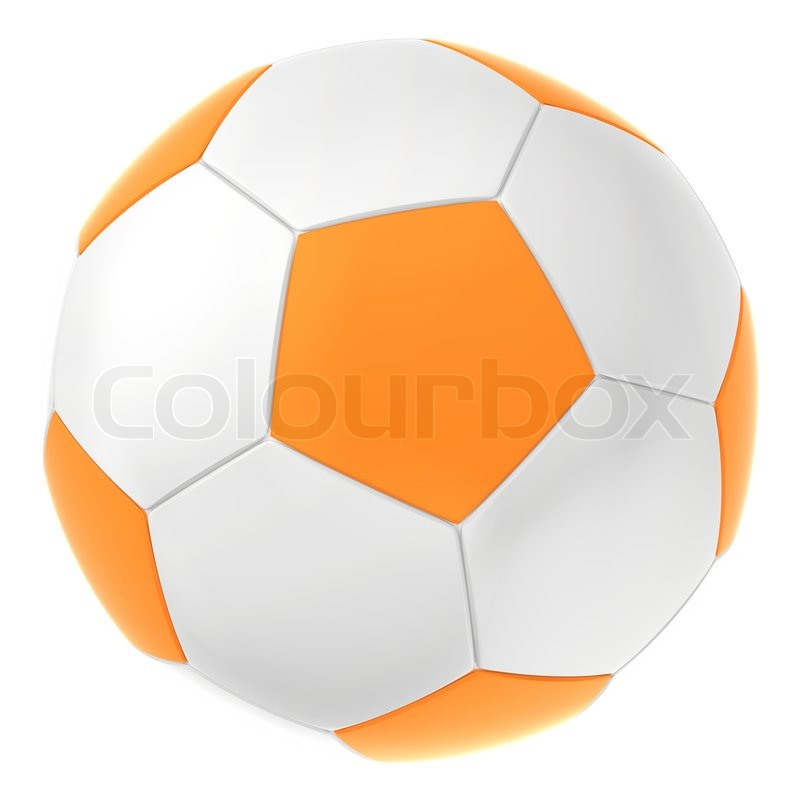 white orange soccer ball ball for football game stock photo