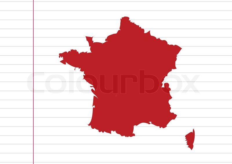 Map And Flag Of France French Republic Stock Vector Colourbox - Map of france in french