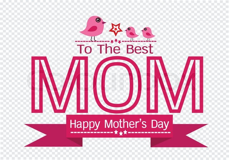 Happy Mothers Day Greeting Card Design Stock Vector Colourbox