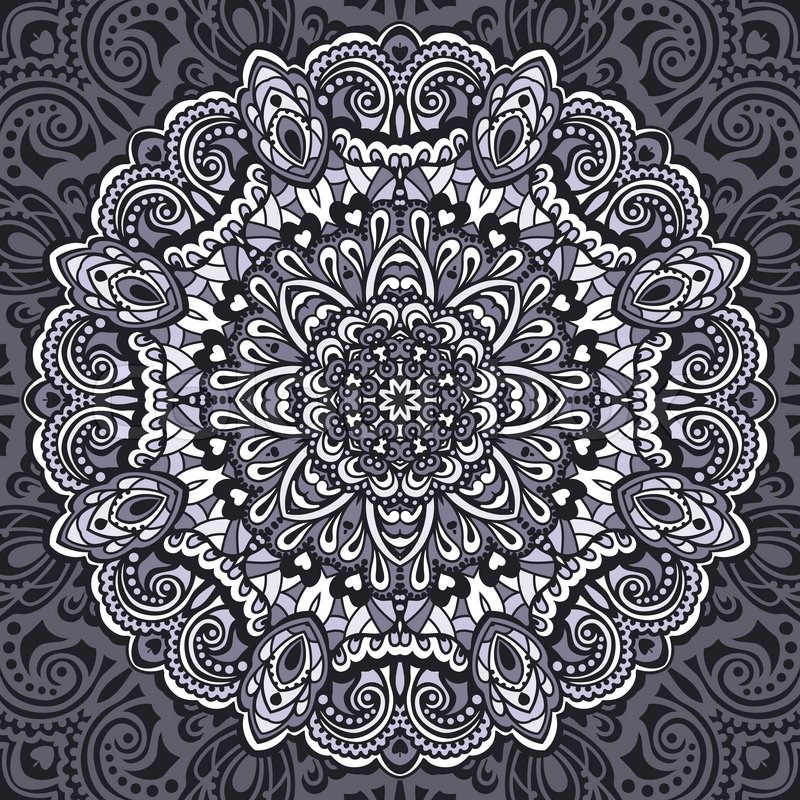 Blume Mandala. abstraktes Element für design | Vektorgrafik | Colourbox