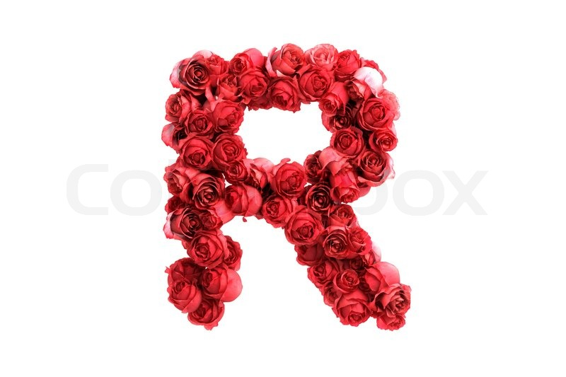Red roses letter r isolated on white background stock photo red roses letter r isolated on white background stock photo colourbox altavistaventures Image collections