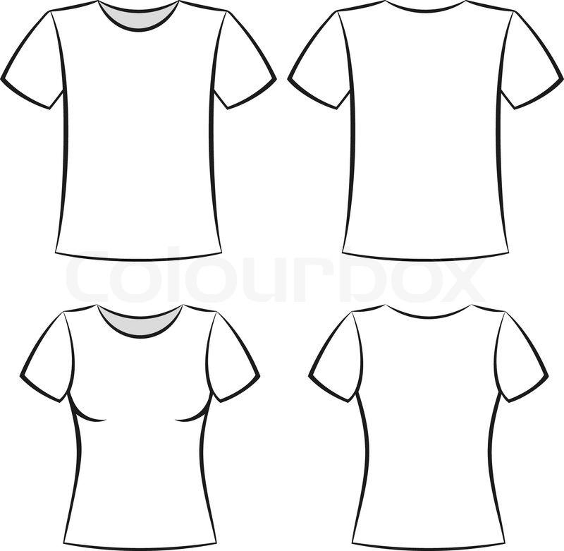 White t-shirt clothing blank template vector illustration   Stock ...