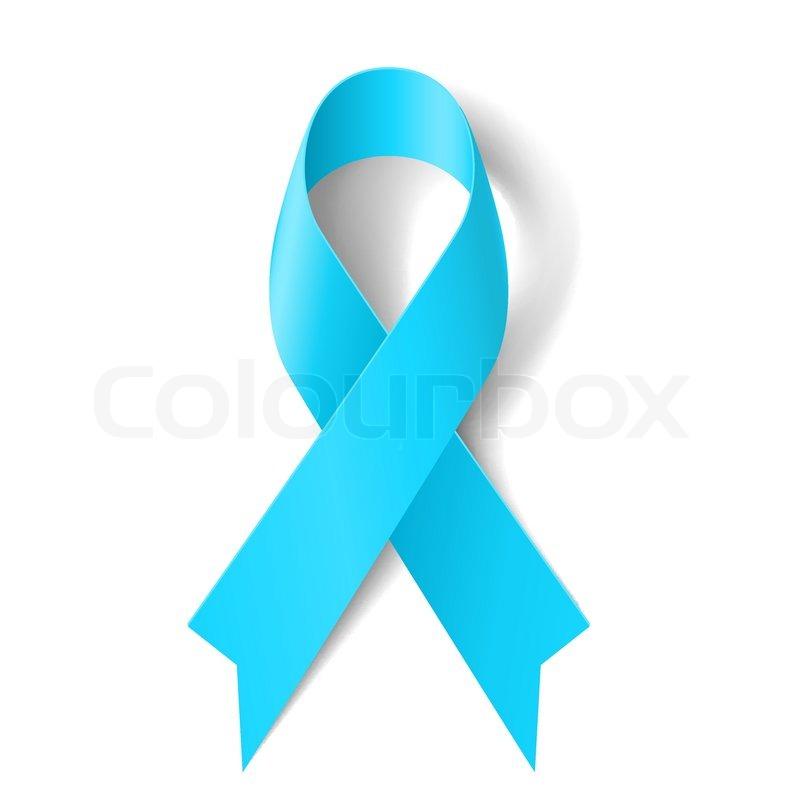 Light Blue Ribbon As Symbol Of Prostate Cancer Awareness Graves