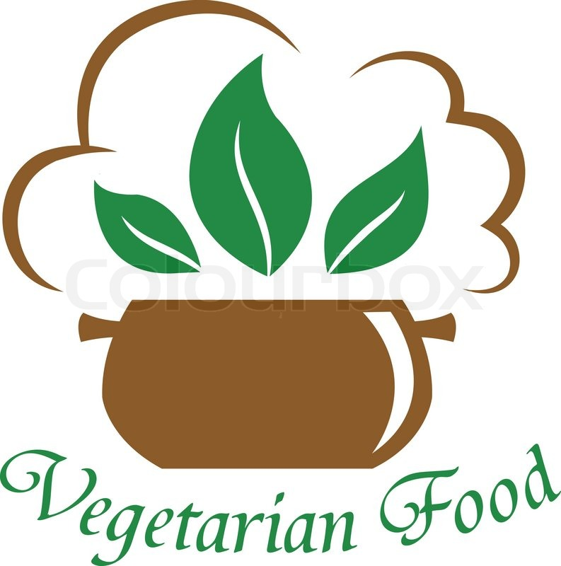 Vegetarian Food Icon With The Text Below A Cooking Pot
