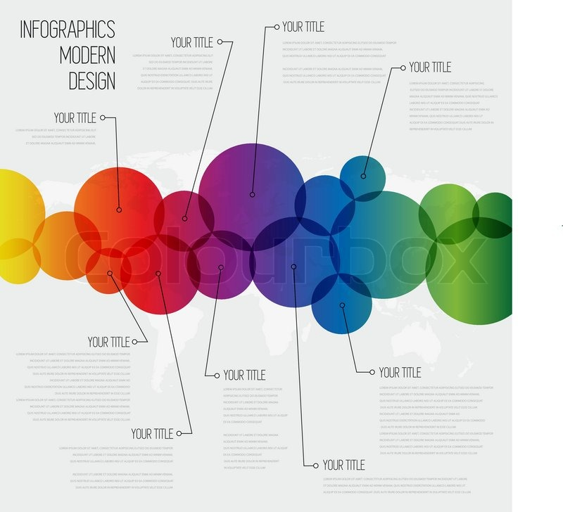Circle Line infographics design template with diagram set. Idea to ...