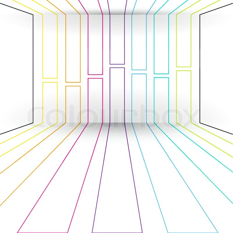 Rooms With Lines: 3D Lines Abstract Background, Room With Geometric Wall