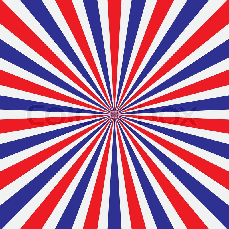 popular red white and blue ray background vintage vector thailand