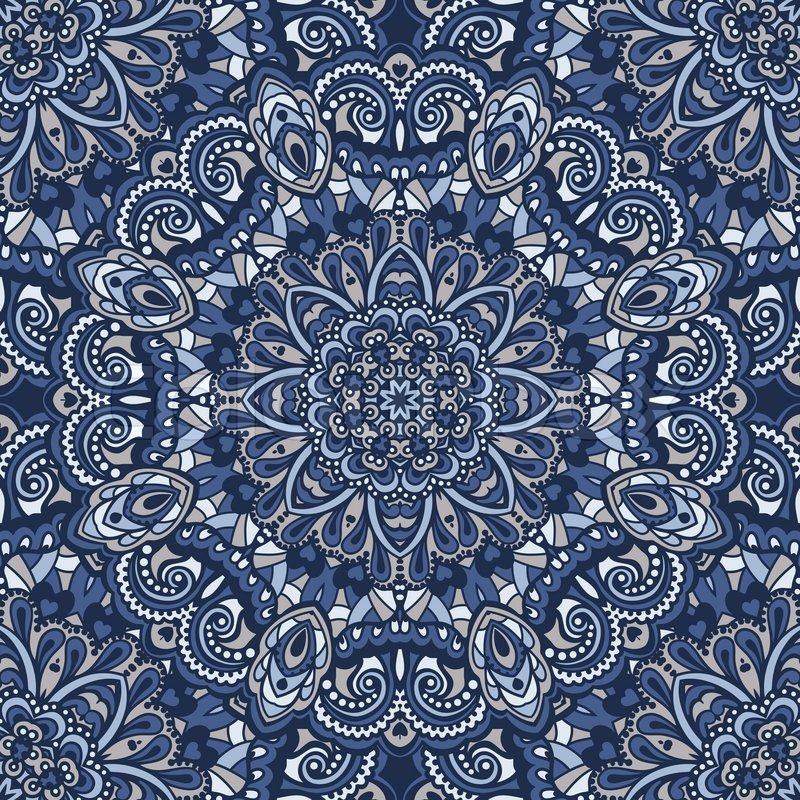 Nahtlose muster orientalisch verzieren vektorgrafik colourbox - Tapete orientalisch blau ...