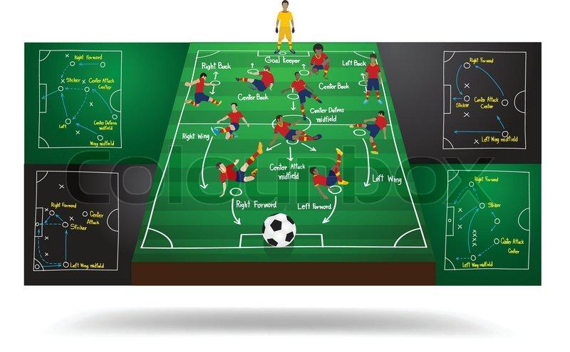 Spanish national team soccer football player in different positions spanish national team soccer football player in different positions soccer field background soccer plan modern infographics design template layout maxwellsz