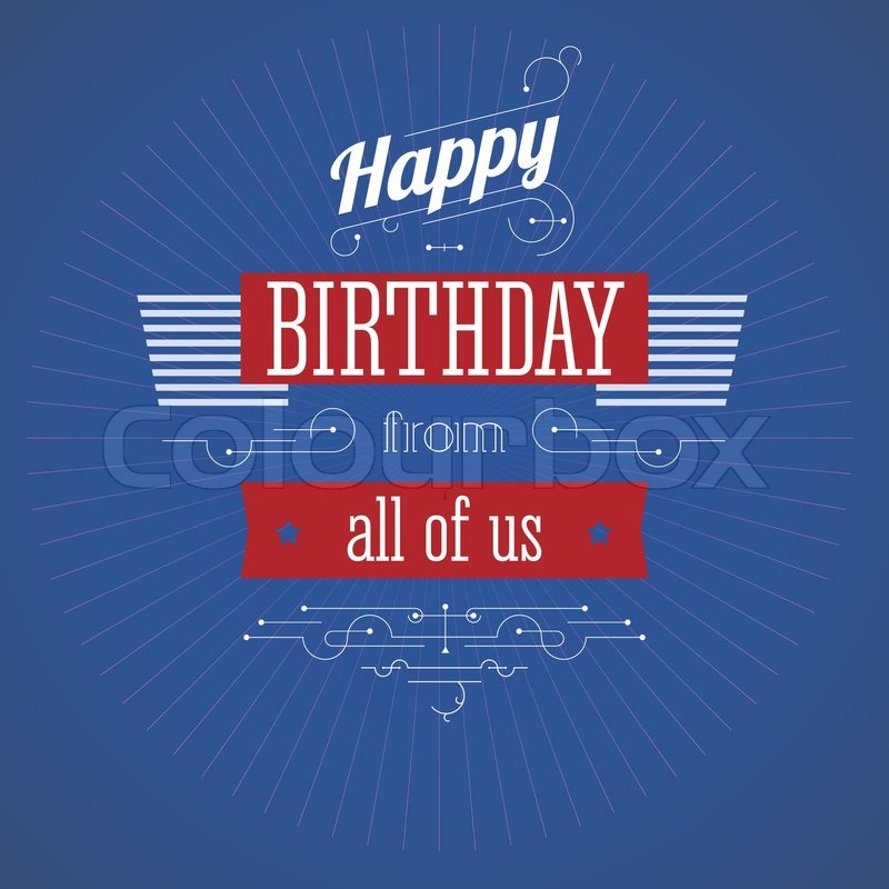 Happy Birthday Editable Card Free Vector Download 15 733: Vintage Birthday Card. Editable For ...
