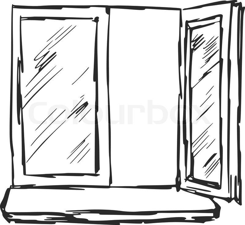 Open Window Sketch Images Galleries