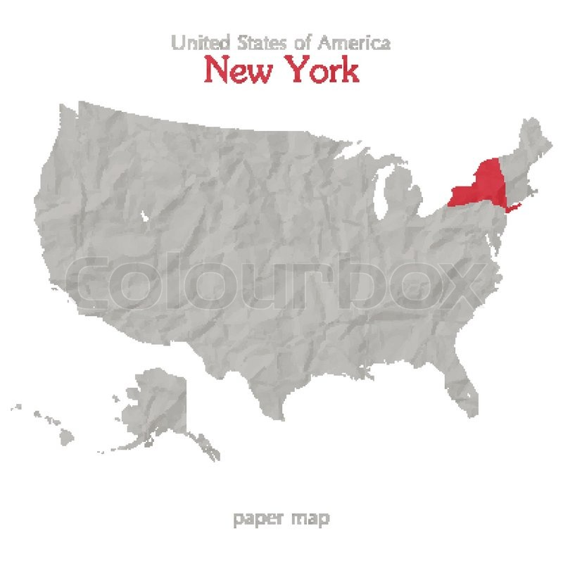 Victor (NY) United States  City new picture : United States of America map and New York state territory on textured ...