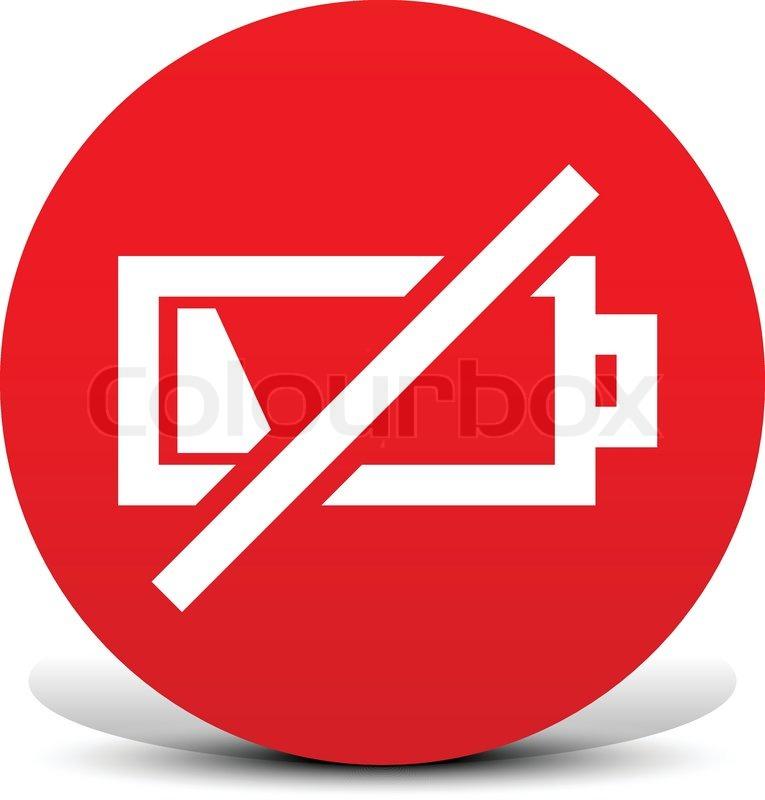 Niedrige Batterie-Symbole | Vektorgrafik | Colourbox