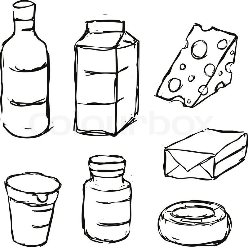 Yogurt Line Drawing : Dairy product yogurt butter margarine milk cheese